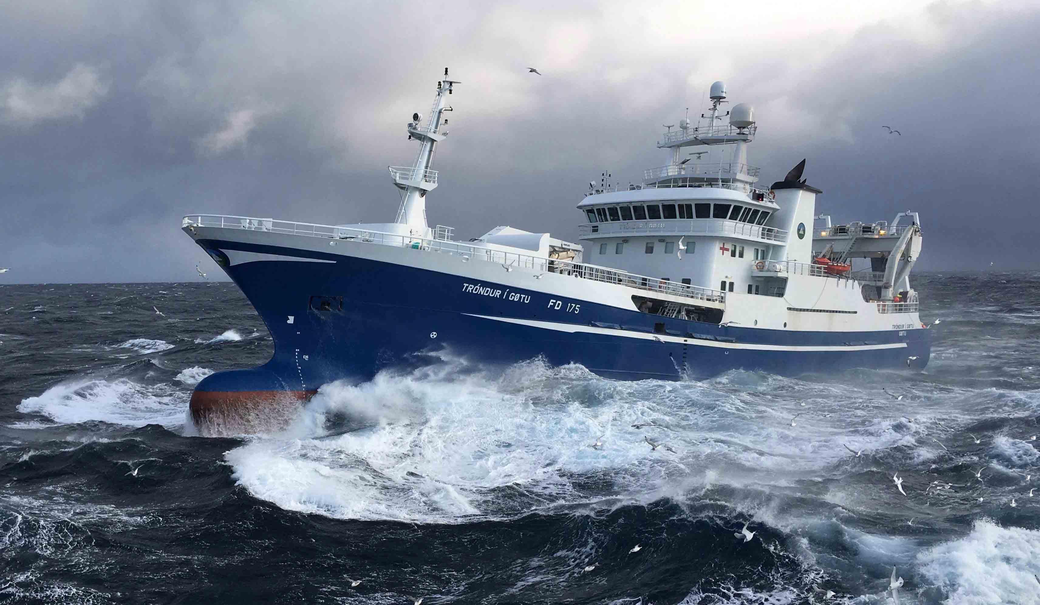 Faroese fishing ship