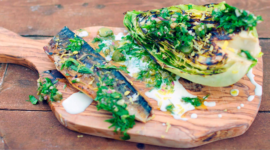 Grilled Atlantic mackerel